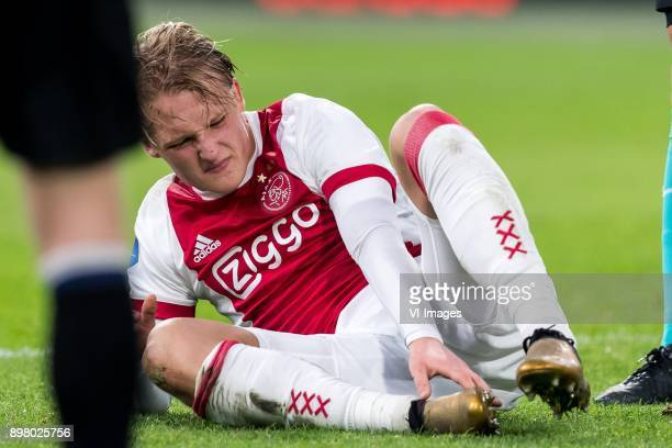 Kasper Dolberg of Ajax during the Dutch Eredivisie match between Ajax Amsterdam and Willem II Tilburg at the Amsterdam Arena on December 24 2017 in...