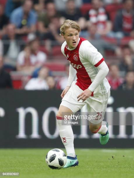 Kasper Dolberg of Ajax during the Dutch Eredivisie match between Ajax Amsterdam and Heracles Almelo at the Amsterdam Arena on April 08 2018 in...