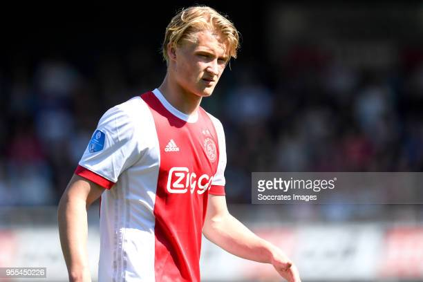 Kasper Dolberg of Ajax during the Dutch Eredivisie match between Excelsior v Ajax at the Van Donge De Roo Stadium on May 6 2018 in Rotterdam...