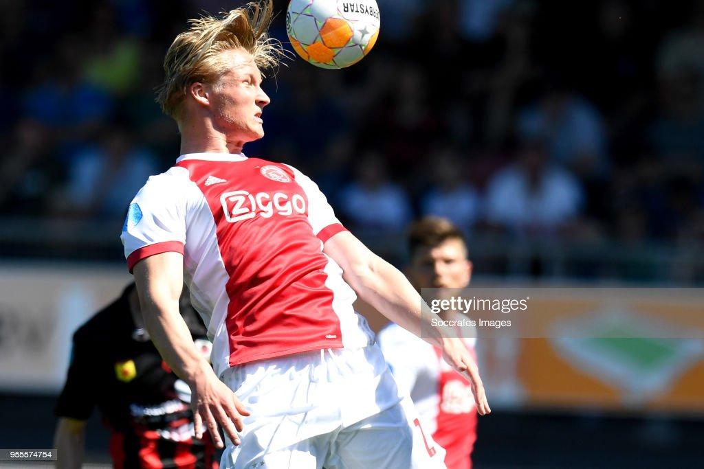 Kasper Dolberg of Ajax during the Dutch Eredivisie match between Excelsior v Ajax at the Van Donge & De Roo Stadium on May 6, 2018 in Rotterdam Netherlands