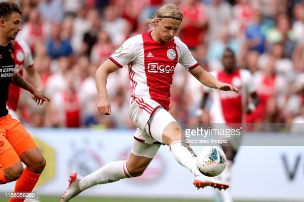 Kasper Dolberg of Ajax during the Dutch Johan Cruijff Schaal match between Ajax v PSV at the Johan Cruijff Arena on July 27 2019 in Amsterdam...