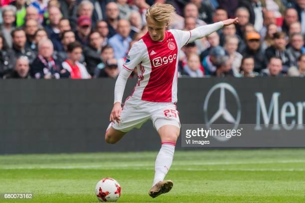 Kasper Dolberg of Ajaxduring the Dutch Eredivisie match between Ajax Amsterdam and Go Ahead Eagles at the Amsterdam Arena on May 07 2017 in Amsterdam...