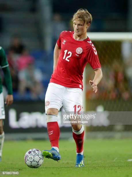 Kasper Dolberg of Denmark during the International Friendly match between Denmark v Mexico at the Brondby Stadium on June 9 2018 in Copenhagen Denmark