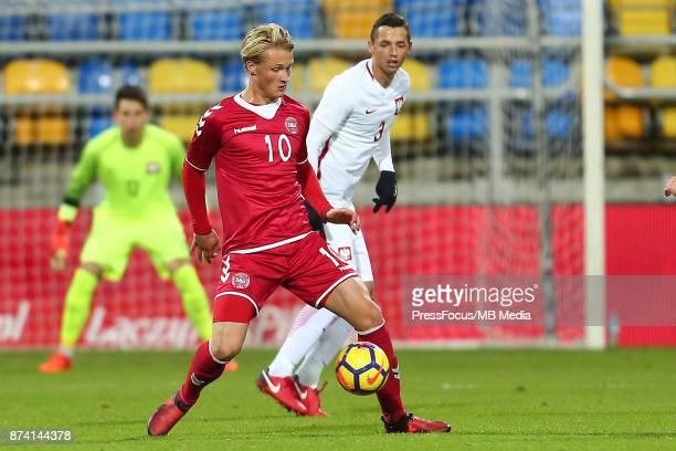 Kasper Dolberg of Denmark during UEFA U21 Championship Qualifier match between Poland and Denmark on November 14 2017 in Gdynia Poland