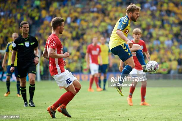 Kasper Fisker of Brondby IF in action during the Danish Cup Final DBU Pokalen match between Brondby IF and Silkeborg IF at Telia Parken Stadium on...