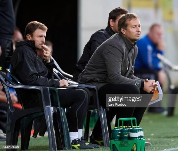Kasper Hjulmand head coach of FC Nordsjalland looks on during the Danish Alka Superliga match between AC Horsens and FC Nordsjalland at CASA Arena...