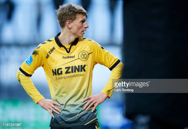Kasper Junker of AC Horsens looks on during the Danish Superliga match between AC Horsens and Brondby IF at CASA Arena on March 17 2019 in Horsens...