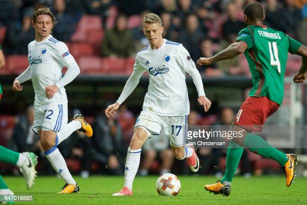 Kasper Kusk of FC Copenhagen in action during the UEFA Europa League Group Stage match between FC Copenhagen and Lokomotiv Moskva at Telia Parken...