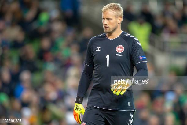 Kasper Schmeichel of Denmark during the UEFA Nations League B match between Republic of Ireland and Denmark at Aviva Stadium in Dublin Ireland on...