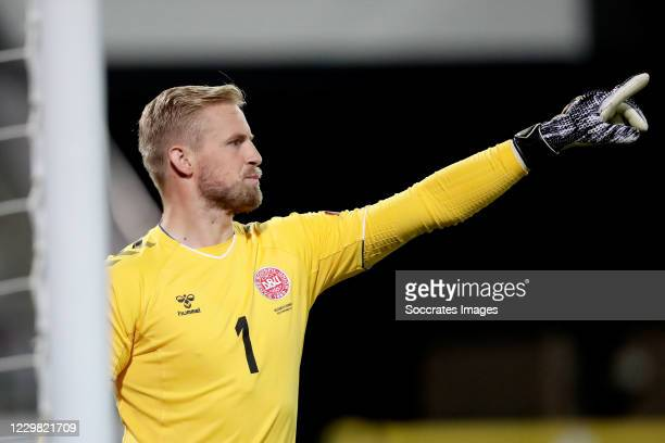 Kasper Schmeichel of Denmark during the UEFA Nations league match between Belgium v Denmark at the King Baudouin Stadium on November 18, 2020 in...