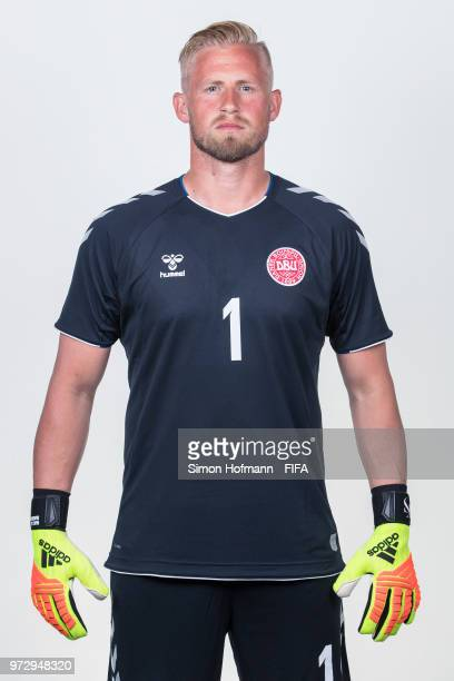 Kasper Schmeichel of Denmark poses during official FIFA World Cup 2018 portrait session on June 12 2018 in Anapa Russia