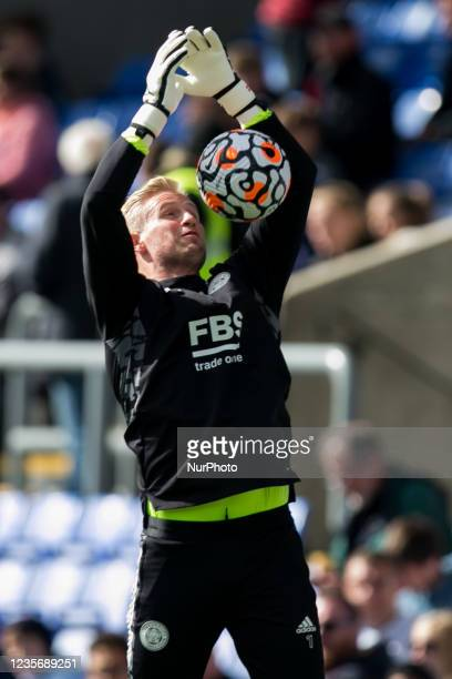 Kasper Schmeichel of Leicester warms up during the Premier League match between Crystal Palace and Leicester City at Selhurst Park, London on Sunday...