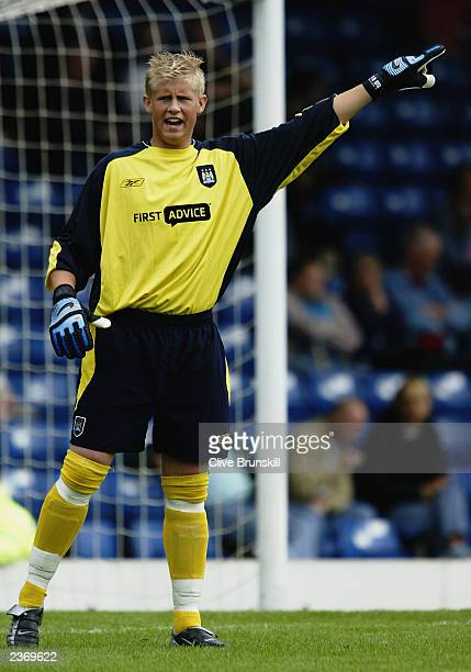 Kasper Schmeichel of Manchester City in action during the PreSeason Friendly match between Bury and Manchester City held on July 26 2003 at Gigg Lane...