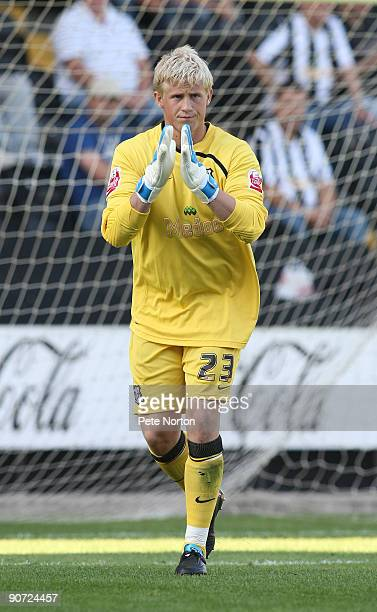 Kasper Schmeichel of Notts County during the Coca Cola League Two match between Notts County and Northampton Town at Meadow Lane on September 12 2009...