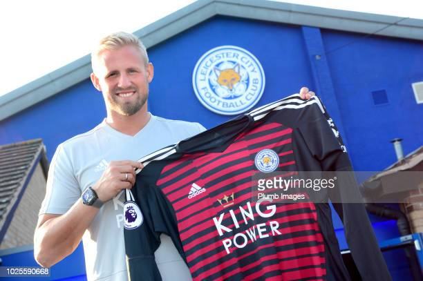 Kasper Schmeichel signs a new contract at Leicester City at Belvoir Drive Training Complex on August 31 2018 in Leicester United Kingdom