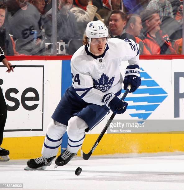 Kasperi Kapanen of the Toronto Maple Leafs skates against the Philadelphia Flyers at the Wells Fargo Center on November 02 2019 in Philadelphia...
