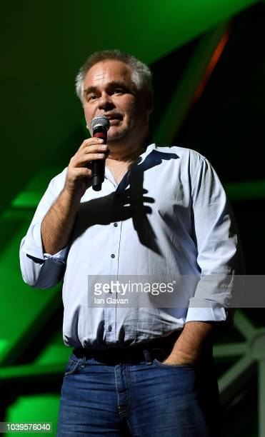Kaspersky CEO Eugene Kaspersky speaks during the exclusive party for the Kaspersky Lab 10th Anniversary in Italy in the beautiful venue of 'La...