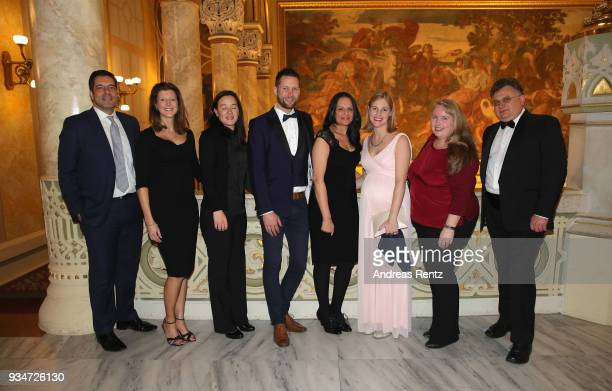Kaspersky employees attend the gala dinner for the Kaspersky Lab European Strategic Session on March 19 2018 in Budapest Hungary