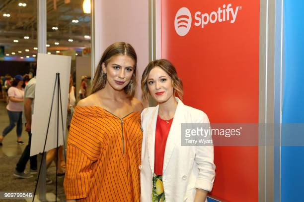Kassi Ashton and Jillian Jacqueline attend the Spotify's Music Streaming Lounge at Music City Convention Center on June 8 2018 in Nashville Tennessee
