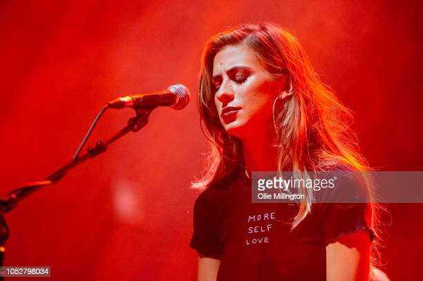 Kassi Ashton perfoms onstage during the October 2018 CMA Songwriters Series tour at O2 Shepherd's Bush Empire on October 22 2018 in London England