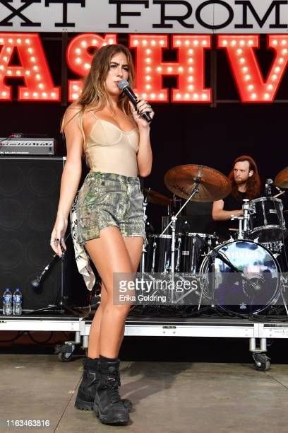 Kassi Ashton performs during 2019 Faster Horses Festival at Michigan International Speedway on July 21 2019 in Brooklyn Michigan