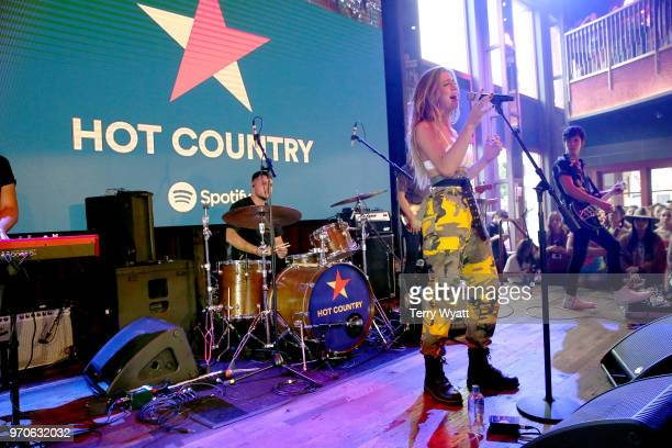 Kassi Ashton performs on stage at the Spotify's Hot Country Presents Midland more at Ole Red During CMA Fest at Ole Red on June 9 2018 in Nashville...