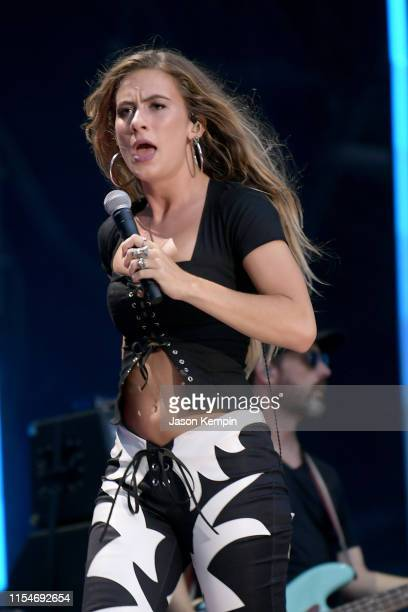 Kassi Ashton performs on stage during day 3 of the 2019 CMA Music Festival on June 8 2019 in Nashville Tennessee