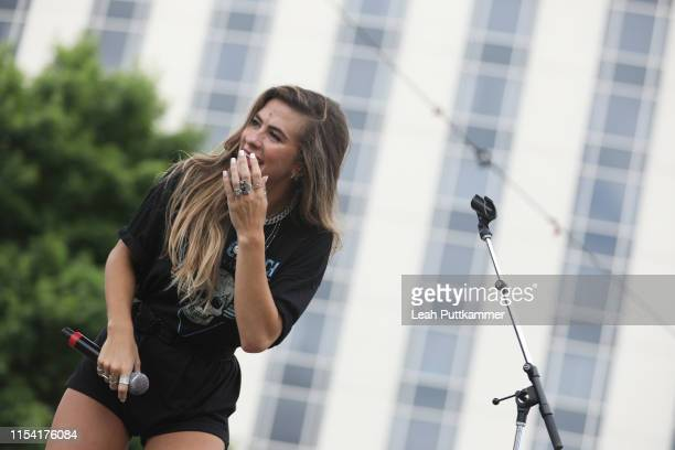 Kassi Ashton performs on the Chevy Breakout Stage on Day 1 of CMAfest on June 06 2019 in Nashville Tennessee