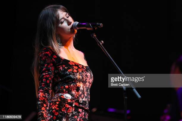 Kassi Ashton performs onstage during CASH FEST In Celebration Of YouTube Originals Documentary THE GIFT THE JOURNEY OF JOHNNY CASH at War Memorial...