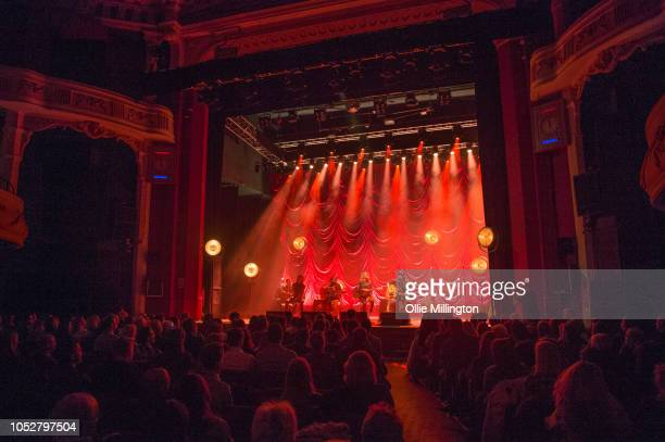 Kassi Ashton Tenille Townes Ashley Campbell and Chris DeStefano perfom onstage during the October 2018 CMA Songwriters Series tour at O2 Shepherd's...