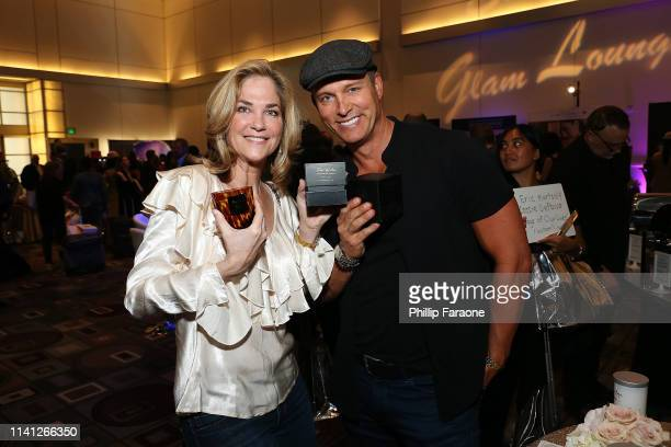 Kassie DePaiva and Eric Martsolf attend the Daytime Emmy Awards PreAwards Networking Party/Gift Lounge at Pasadena Convention Center on May 4 2019 in...