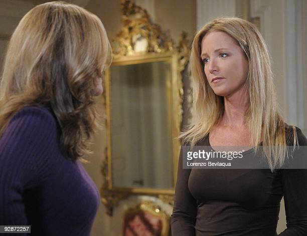 LIVE Kassie DePaiva and Susan Haskell in a scene that airs the week of November 2 2009 on ABC Daytime's 'One Life to Live' 'One Life to Live' airs...