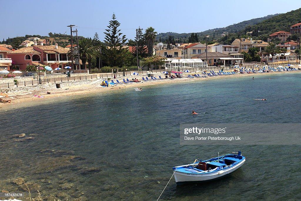Kassiopi resort, Corfu Island : Stock Photo