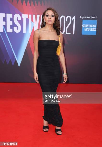 """Kassius Nelson attends the """"Last Night In Soho"""" UK Premiere during the 65th BFI London Film Festival at Curzon Soho on October 09, 2021 in London,..."""