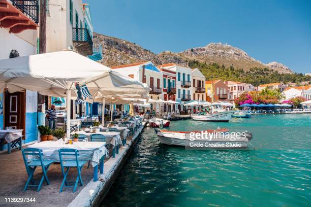 kastellorizon greek island - dodecanese islands stock photos and pictures