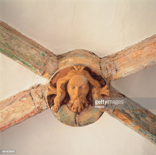 Kastl Upper Palatinate former Benedictine monastery Vault capstone in the shape of Christ in the RomanesqueGothic church Photography by Gerhard...