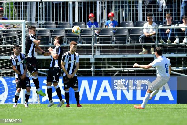 Kastrijot Ndau of FC Zurich scores his sides first goal in the group stage match between PAOK FC and FC Zurich during day one of the Blue Stars FIFA...