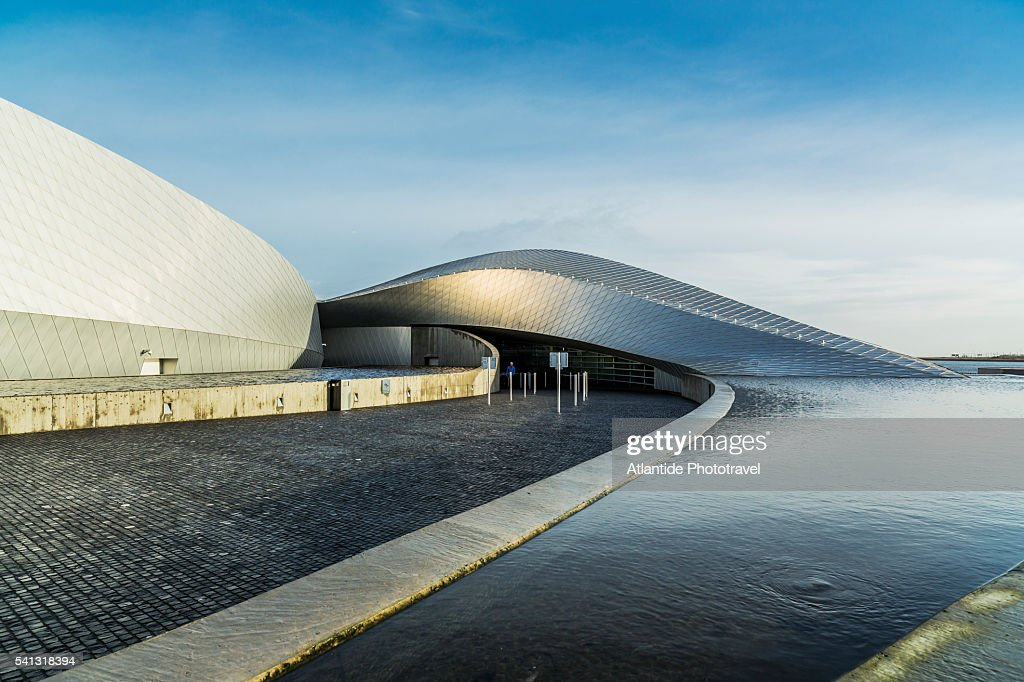 Kastrup, Den Blå Planet (National Aquarium Denmark), the exterior (3XN Architects) : Stock Photo