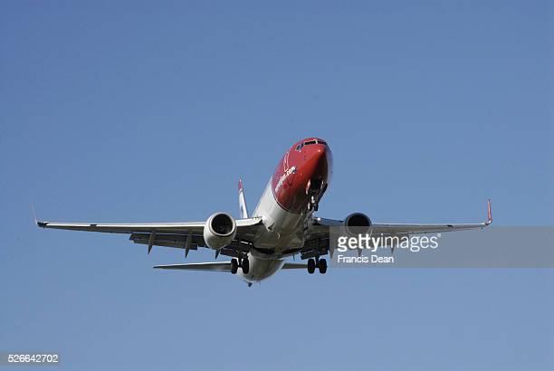 Kastrup.Copenhagen.Denamrk 08 May 2015 Various airlines interntional flight make landing at Copenhagen Interntional Airport in Kastrup