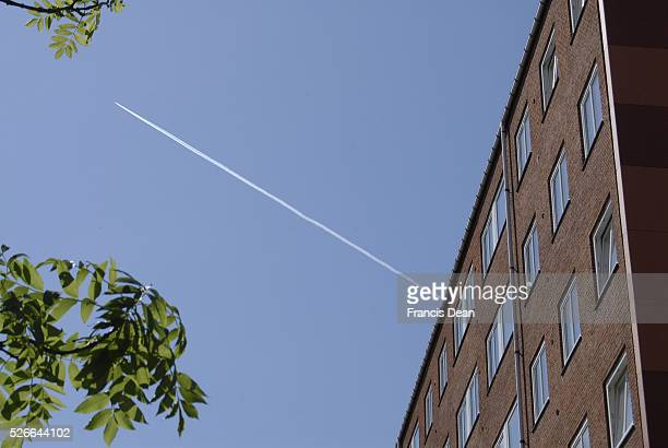KastrupCopenhagenDenamrk 10 June 2015 Civilian aeroplane over sky