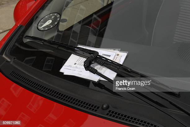 KastrupCopenhagenDenmark 17th September 2015_Parking ticket at car