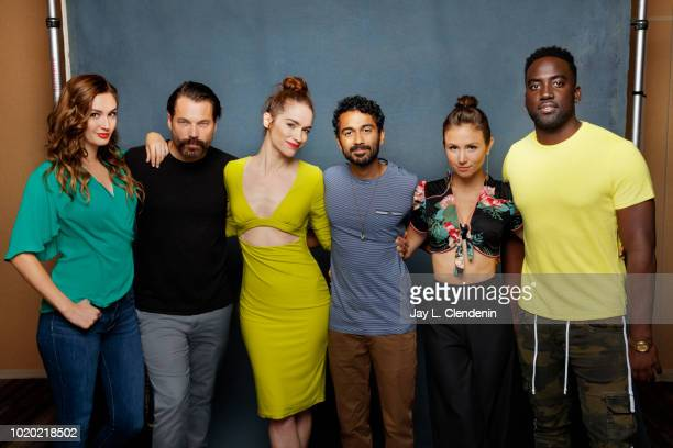 Kat Barrell Tim Rozon Melanie Scrofano Varun Saranga Dominique ProvostChalkley and Shamier Anderson from 'Wynonna Earp' are photographed for Los...