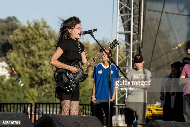 Kat Bjelland of Babes in Toyland performs at Glen Helen Amphitheatre on October 7 2017 in San Bernardino California