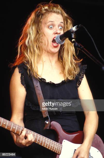 Kat Bjelland of Babes in Toyland performs on stage circa 1990