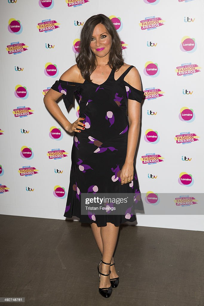 Kat Byrne attends Lorraine's High Street Fashion Awards on May 21, 2014 in London, England.