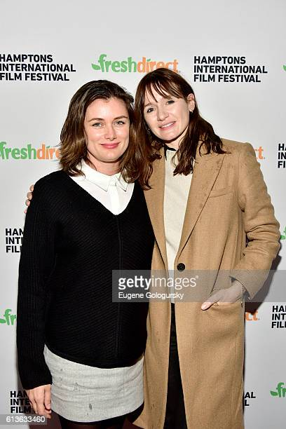 Kat Coiro and Emily Mortimer attend the NYWIFT Shorts screening during the Hamptons International Film Festival 2016 at UA East Hampton Cinema 6 on...