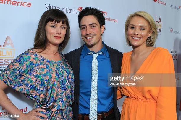 """Kat Coiro, Ben feldman and NIcky Whelan at The 2012 Los Angeles Film Festival Official Kick Off Premiere Of """"Departure Date"""" sponsored by Virgin..."""