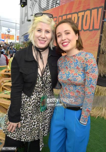 Kat Corbett and Alice Merton attend KROQ Weenie Roast 2018 at StubHub Center on May 12 2018 in Carson California