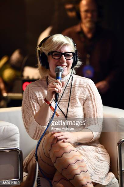 Kat Corbett speaks during an interview at KROQ Almost Acoustic Christmas 2017 at The Forum on December 10, 2017 in Inglewood, California.