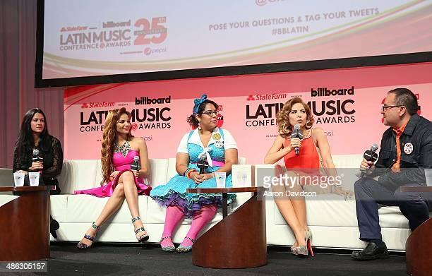 Kat Dahlia Leslie Grace La Marisoul Gloria Trevi and Justino Aguila participates in 25th Annual Billboard Latin Music Conference QA With David Bisbal...